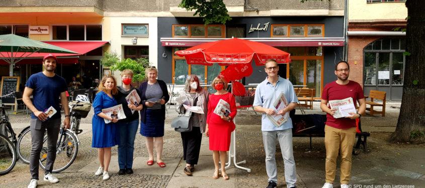 Infostand der SPD rund um den Lietzensee am Stuttgarter Platz